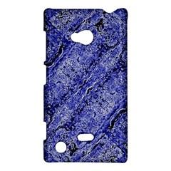 Texture Blue Neon Brick Diagonal Nokia Lumia 720
