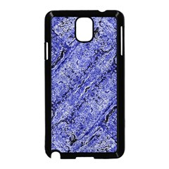 Texture Blue Neon Brick Diagonal Samsung Galaxy Note 3 Neo Hardshell Case (black)