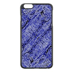 Texture Blue Neon Brick Diagonal Apple Iphone 6 Plus/6s Plus Black Enamel Case