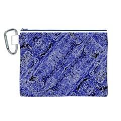 Texture Blue Neon Brick Diagonal Canvas Cosmetic Bag (l)