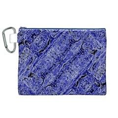 Texture Blue Neon Brick Diagonal Canvas Cosmetic Bag (xl)