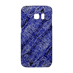 Texture Blue Neon Brick Diagonal Galaxy S6 Edge