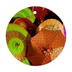 Umbrellas Parasols Design Rain Ornament (round)