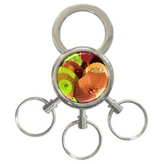 Umbrellas Parasols Design Rain 3 Ring Key Chains