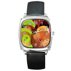 Umbrellas Parasols Design Rain Square Metal Watch