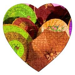 Umbrellas Parasols Design Rain Jigsaw Puzzle (heart)