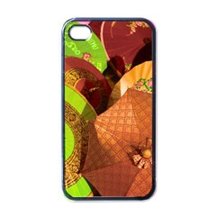 Umbrellas Parasols Design Rain Apple Iphone 4 Case (black)