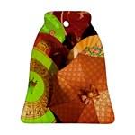 Umbrellas Parasols Design Rain Ornament (Bell) Front