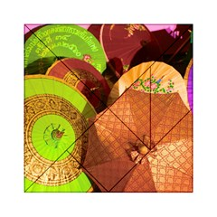 Umbrellas Parasols Design Rain Acrylic Tangram Puzzle (6  X 6 )