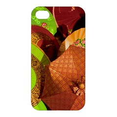 Umbrellas Parasols Design Rain Apple Iphone 4/4s Premium Hardshell Case