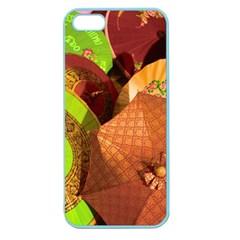Umbrellas Parasols Design Rain Apple Seamless Iphone 5 Case (color)
