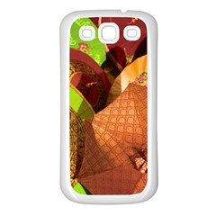 Umbrellas Parasols Design Rain Samsung Galaxy S3 Back Case (white)