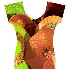 Umbrellas Parasols Design Rain Women s V-Neck Cap Sleeve Top