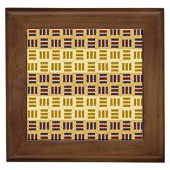 Textile Texture Fabric Material Framed Tiles