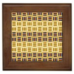 Textile Texture Fabric Material Framed Tiles Front