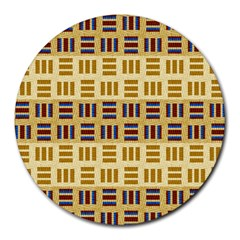 Textile Texture Fabric Material Round Mousepads