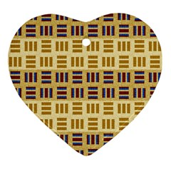 Textile Texture Fabric Material Ornament (heart)