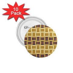 Textile Texture Fabric Material 1 75  Buttons (10 Pack)