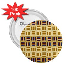 Textile Texture Fabric Material 2 25  Buttons (100 Pack)