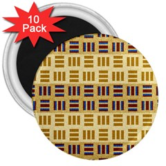 Textile Texture Fabric Material 3  Magnets (10 pack)
