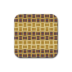 Textile Texture Fabric Material Rubber Square Coaster (4 Pack)
