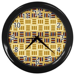 Textile Texture Fabric Material Wall Clocks (black)