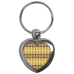 Textile Texture Fabric Material Key Chains (heart)