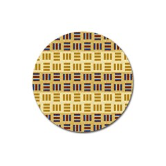 Textile Texture Fabric Material Magnet 3  (round)