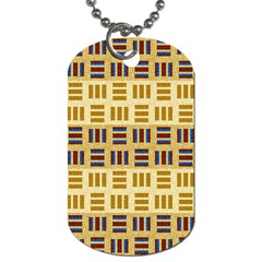 Textile Texture Fabric Material Dog Tag (one Side)