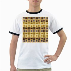 Textile Texture Fabric Material Ringer T Shirts
