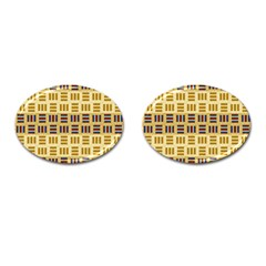 Textile Texture Fabric Material Cufflinks (oval)