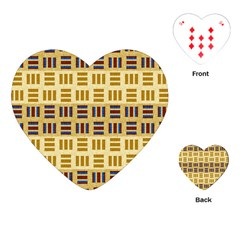Textile Texture Fabric Material Playing Cards (heart)