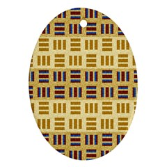 Textile Texture Fabric Material Oval Ornament (two Sides)