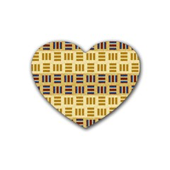 Textile Texture Fabric Material Heart Coaster (4 Pack)