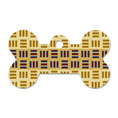 Textile Texture Fabric Material Dog Tag Bone (one Side)