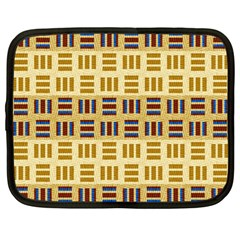 Textile Texture Fabric Material Netbook Case (large)