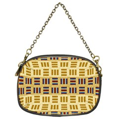 Textile Texture Fabric Material Chain Purses (one Side)