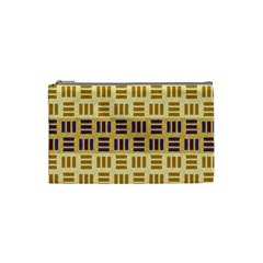 Textile Texture Fabric Material Cosmetic Bag (small)