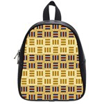 Textile Texture Fabric Material School Bags (Small)  Front