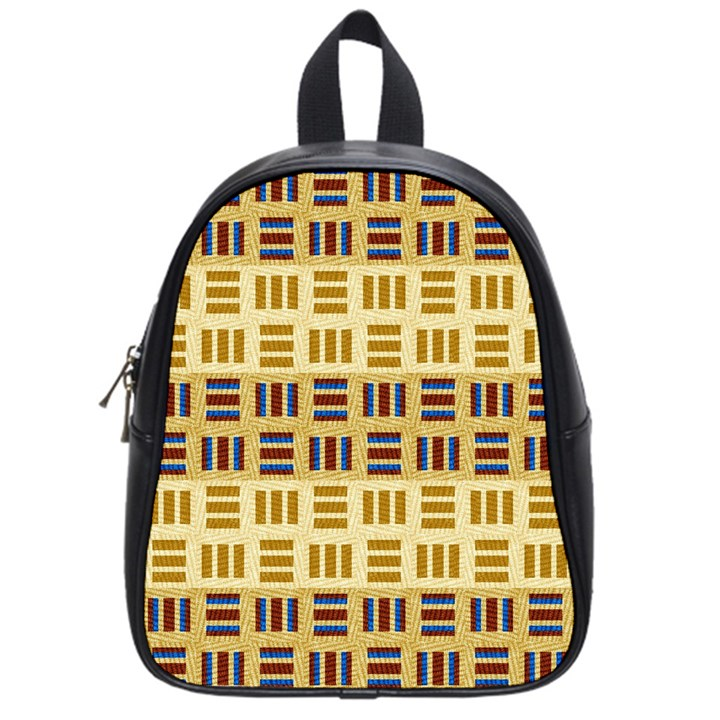 Textile Texture Fabric Material School Bags (Small)