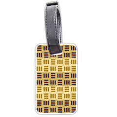 Textile Texture Fabric Material Luggage Tags (one Side)