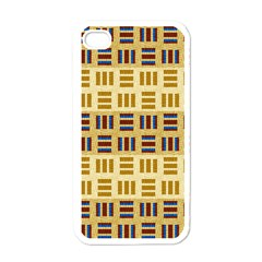 Textile Texture Fabric Material Apple Iphone 4 Case (white)