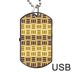 Textile Texture Fabric Material Dog Tag Usb Flash (one Side)