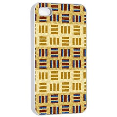 Textile Texture Fabric Material Apple Iphone 4/4s Seamless Case (white)