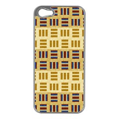 Textile Texture Fabric Material Apple Iphone 5 Case (silver)