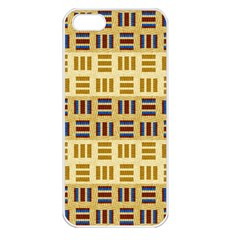 Textile Texture Fabric Material Apple Iphone 5 Seamless Case (white)