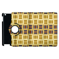 Textile Texture Fabric Material Apple Ipad 3/4 Flip 360 Case