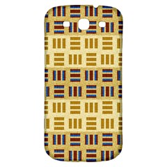 Textile Texture Fabric Material Samsung Galaxy S3 S Iii Classic Hardshell Back Case