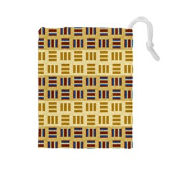Textile Texture Fabric Material Drawstring Pouches (large)