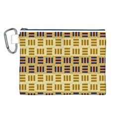 Textile Texture Fabric Material Canvas Cosmetic Bag (l)